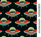 retro colorful ufo spaceship... | Shutterstock .eps vector #360060800