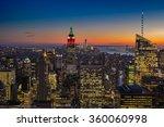 skyline of new york at sunset | Shutterstock . vector #360060998