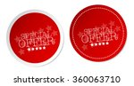 special offer stickers   Shutterstock .eps vector #360063710
