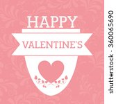 happy valentines day design  | Shutterstock .eps vector #360065690
