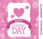 happy valentines day design  | Shutterstock .eps vector #360065774
