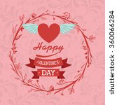 happy valentines day design  | Shutterstock .eps vector #360066284