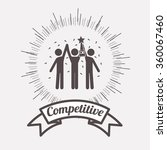 competitive spirit design  | Shutterstock .eps vector #360067460