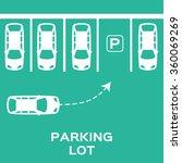 top view parking lot design....   Shutterstock .eps vector #360069269