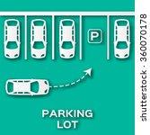 top view parking lot paper cut... | Shutterstock .eps vector #360070178