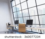 row of workplaces in the office ... | Shutterstock . vector #360077234