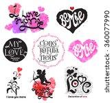 vintage love logo. love the... | Shutterstock .eps vector #360077990