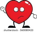 cartoon illustration of a heart ... | Shutterstock .eps vector #360080420
