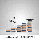 young man with a folder in hand ... | Shutterstock . vector #360084218