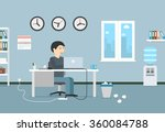 happy businessman working with... | Shutterstock .eps vector #360084788