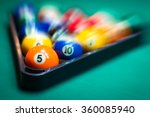 blurry and moving of billiard... | Shutterstock . vector #360085940