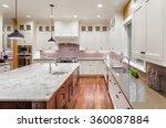 beautiful kitchen in new luxury ... | Shutterstock . vector #360087884