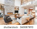 beautiful living room with... | Shutterstock . vector #360087893