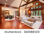 beautiful and  huge living room ... | Shutterstock . vector #360088103