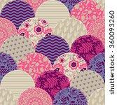 seamless pattern. patchwork. | Shutterstock .eps vector #360093260
