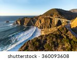 the california coast glows in... | Shutterstock . vector #360093608