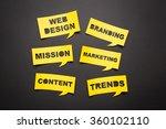 bubbles speech with cut out... | Shutterstock . vector #360102110