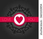 vector valentines day... | Shutterstock .eps vector #360102854