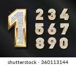 golden bling numbers . vector... | Shutterstock .eps vector #360113144