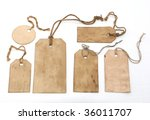 set of stained hang tags | Shutterstock . vector #36011707
