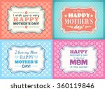 happy mothers day card set.... | Shutterstock . vector #360119846