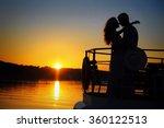 Romantic Silhouette Couple...