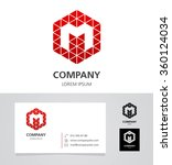 letter m   logo design element... | Shutterstock .eps vector #360124034
