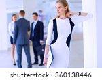 portrait of young businesswoman ...   Shutterstock . vector #360138446