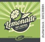 lemon slice and lemonade  ... | Shutterstock .eps vector #360138884