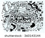 hand drawn vector illustration... | Shutterstock .eps vector #360143144