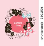 round floral frame for text or... | Shutterstock .eps vector #3601506