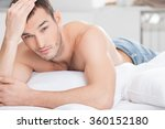 handsome fit man is relaxing at ... | Shutterstock . vector #360152180