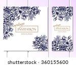 vintage delicate invitation... | Shutterstock . vector #360155600