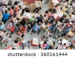 abstract blur many urban people ... | Shutterstock . vector #360161444