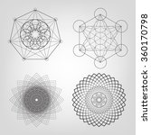 sacred geometry. vector... | Shutterstock .eps vector #360170798