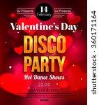 valentines day dance flyer | Shutterstock .eps vector #360171164