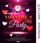 happy valentine's day party... | Shutterstock .eps vector #360171170