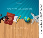 tourism website template  time... | Shutterstock .eps vector #360176060