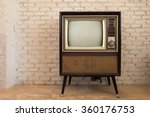 retro old television in vintage ... | Shutterstock . vector #360176753