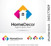 home decor logo template design ... | Shutterstock .eps vector #360177809