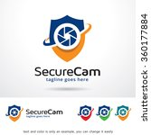 secure cam logo template design ... | Shutterstock .eps vector #360177884