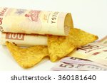 mexican pesos and nachos | Shutterstock . vector #360181640