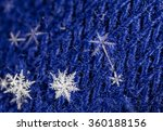 natural snowflakes on knitted ... | Shutterstock . vector #360188156