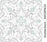 seamless damask pattern. tile | Shutterstock .eps vector #360189614