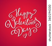 happy valentine's day card.... | Shutterstock .eps vector #360194330