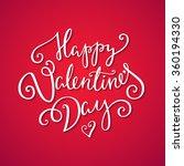 happy valentine's day card.... | Shutterstock .eps vector #360194330