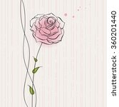 Greeting Card With A Rose