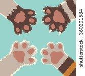 team friendship. cats foots ... | Shutterstock .eps vector #360201584