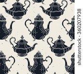 vintage teapot   coffee pot... | Shutterstock .eps vector #360207938