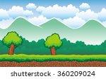 cute cartoon seamless landscape ... | Shutterstock .eps vector #360209024